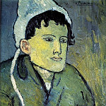 Pablo Picasso (1881-1973) Period of creation: 1889-1907 - 1901 Femme au bonnet