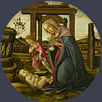 Workshop of Sandro Botticelli – The Virgin and Child with Saint John the Baptist, Part 6 National Gallery UK