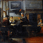 Quiringh van Brekelenkam – Interior of a Tailors Shop, Part 6 National Gallery UK