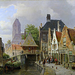 Willem Koekkoek – View of Oudewater, Part 6 National Gallery UK
