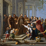 Willem van Herp the Elder – Saint Anthony of Padua distributing Bread, Part 6 National Gallery UK