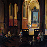 Studio of Pieter Neeffs the Elder – View of a Chapel at Evening, Part 6 National Gallery UK
