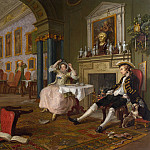William Hogarth – Marriage A-la-Mode – 2, The Tete a Tete, Part 6 National Gallery UK