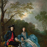 Thomas Gainsborough – Portrait of the Artist with his Wife and Daughter, Part 6 National Gallery UK