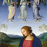 Pietro Perugino – The Virgin and Child with an Angel, Part 6 National Gallery UK
