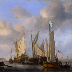 Willem van de Velde – A Dutch Yacht saluting, Part 6 National Gallery UK