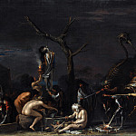Salvator Rosa – Witches at their Incantations, Part 6 National Gallery UK