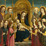 the Master of the Pala Sforzesca – The Virgin and Child with Saints and Donors, Part 6 National Gallery UK