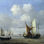 Willem van de Velde – Small Dutch Vessels Aground at Low Water in a Calm, Part 6 National Gallery UK