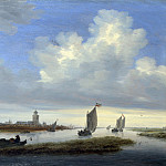 Salomon van Ruysdael – A View of Deventer seen from the North-West, Part 6 National Gallery UK