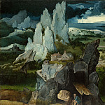the Workshop of Joachim Patinir – Saint Jerome in a Rocky Landscape, Part 6 National Gallery UK