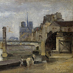 Part 6 National Gallery UK - Stanislas Victor Edmond Lepine - The Pont de la Tournelle, Paris