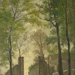 Part 6 National Gallery UK - Stanislas Victor Edmond Lepine - A Gateway behind Trees