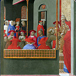 Part 6 National Gallery UK - Sassetta - Saint Francis before Pope Honorius III