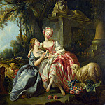 Studio of Francois Boucher – The Billet-Doux, Part 6 National Gallery UK