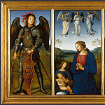 Three Panels from an Altarpiece, Certosa, Pietro Perugino