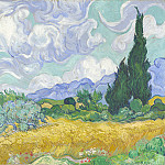 Vincent van Gogh – A Wheatfield, with Cypresses, Part 6 National Gallery UK