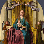 The Virgin and Child Enthroned, with Four Angels, Quentin Massys
