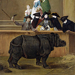 Pietro Longhi – Exhibition of a Rhinoceros at Venice, Part 6 National Gallery UK