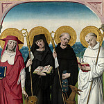 Workshop of the Master of the Life of the Virgin – Saints Jerome, Bernard, Giles and Benedict, Part 6 National Gallery UK