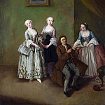 Pietro Longhi – An Interior with Three Women and a Seated Man, Part 6 National Gallery UK
