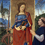 Pintoricchio – Saint Catherine of Alexandria with a Donor, Part 6 National Gallery UK