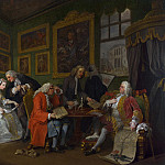 William Hogarth – Marriage A-la-Mode – 1, The Marriage Settlement, Part 6 National Gallery UK
