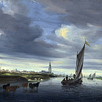 Salomon van Ruysdael – A View of Rhenen seen from the West, Part 6 National Gallery UK