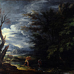 Salvator Rosa – Landscape with Mercury and the Dishonest Woodman, Part 6 National Gallery UK