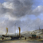 Willem van de Velde – The Shore at Scheveningen, Part 6 National Gallery UK