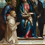 Sodoma – The Madonna and Child with Saints and a Donor, Part 6 National Gallery UK