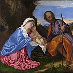 Titian – The Holy Family with a Shepherd, Part 6 National Gallery UK
