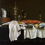 Willem Claesz. Heda – Still Life with a Lobster, Part 6 National Gallery UK