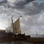 Simon de Vlieger – A View of an Estuary, Part 6 National Gallery UK