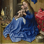 Workshop of Robert Campin – The Virgin and Child in an Interior, Part 6 National Gallery UK