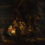 Rembrandt – The Adoration of the Shepherds , Part 6 National Gallery UK