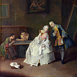 Pietro Longhi – A Lady receiving a Cavalier, Part 6 National Gallery UK