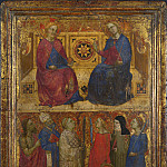 Style of Giovanni da Milano – Christ and the Virgin with Saints, Part 6 National Gallery UK