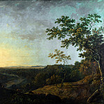 Richard Wilson – The Valley of the Dee, with Chester in the Distance, Part 6 National Gallery UK