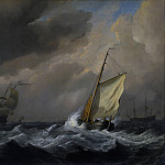 Willem van de Velde – A Small Dutch Vessel close-hauled in a Strong Breeze, Part 6 National Gallery UK