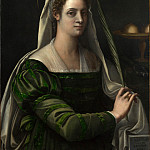 Sebastiano del Piombo – Portrait of a Lady with the Attributes of Saint Agatha, Part 6 National Gallery UK