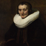 Rembrandt – Portrait of Margaretha de Geer, Wife of Jacob Trip, Part 6 National Gallery UK