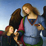 Pietro Perugino – The Archangel Raphael with Tobias, Part 6 National Gallery UK
