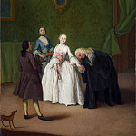 Pietro Longhi – A Nobleman kissing a Ladys Hand, Part 6 National Gallery UK