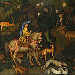 Pisanello – The Vision of Saint Eustace, Part 6 National Gallery UK
