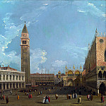 Studio of Canaletto – Venice – The Piazzetta from the Molo, Part 6 National Gallery UK