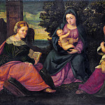 Style of Bonifazio di Pitati – The Madonna and Child with Saints, Part 6 National Gallery UK