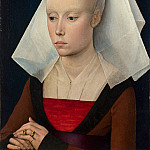 Workshop of Rogier van der Weyden – Portrait of a Lady, Part 6 National Gallery UK