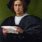 Rosso Fiorentino – Portrait of a Young Man holding a Letter, Part 6 National Gallery UK