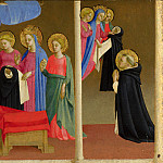 Workshop of Fra Angelico – The Vision of the Dominican Habit, Part 6 National Gallery UK